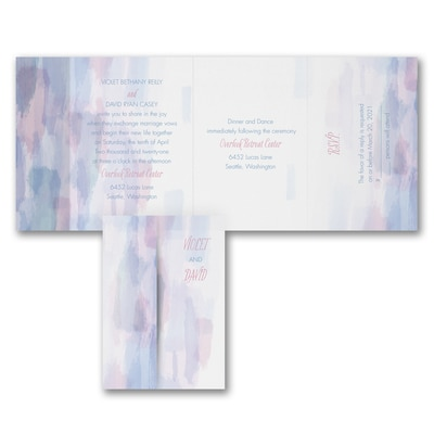 Pretty Pastels - All 'n One Invitation
