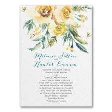 Watercolor Beauty - Yellow - Invitation