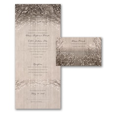 All In One Invitation: Wooden Shimmer