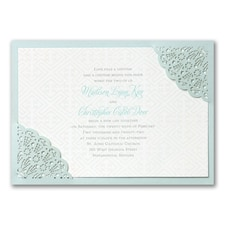 laser cut invitation: Desert Lace