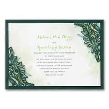 laser cut invitation: Jungle Romance
