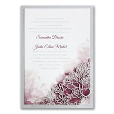 laser cut invitation: Romantic Blossoms