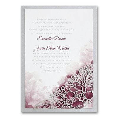 Romantic Blossoms - Invitation