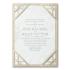 laser cut invitation: Marble Masterpiece