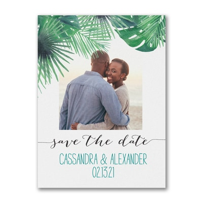 Natural Palms - Photo Save The Date