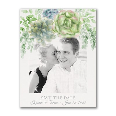 Painted Love - Photo Save The Date Postcard