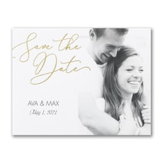 Romantic Script - Save The Date