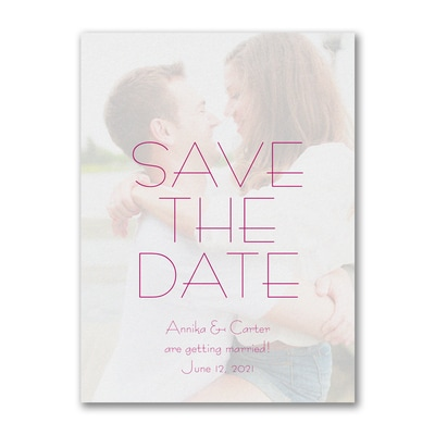 Contemporary Day - Photo Save The Date