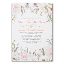 Vintage wedding invitation: Ethereal Floral