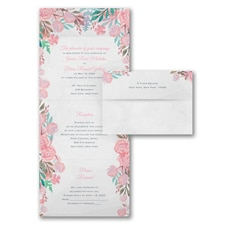 With RSVP Cards: Romantic Blooms