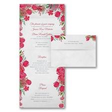 Romantic Blooms - Seal 'n Send - Claret
