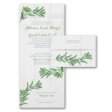 All In One Invitation: Natural Vows