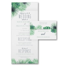 With RSVP Cards: Exotic Palms