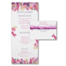 floral invitation: Magical Garden