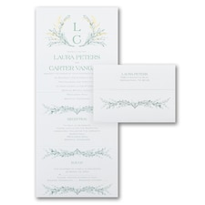 With RSVP Cards: Romantic Greenery