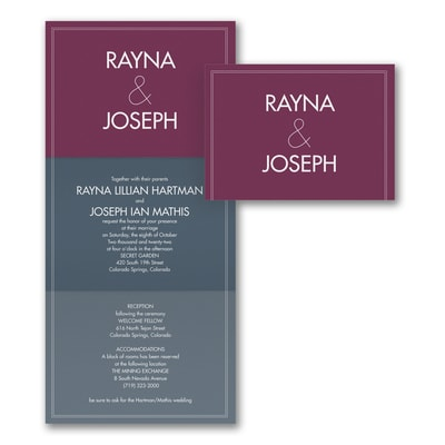 Color Block Wedding - Invitation