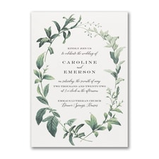 Wedding Invitation: Lovely Greenery
