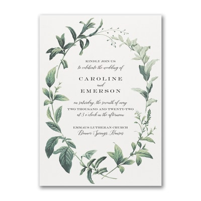 Lovely Greenery - Invitation