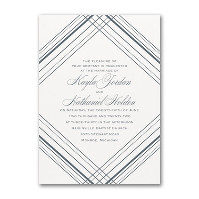 Modern Geometric - Invitation