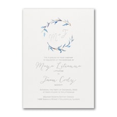 Watercolor Whimsy - Monogram Invitation