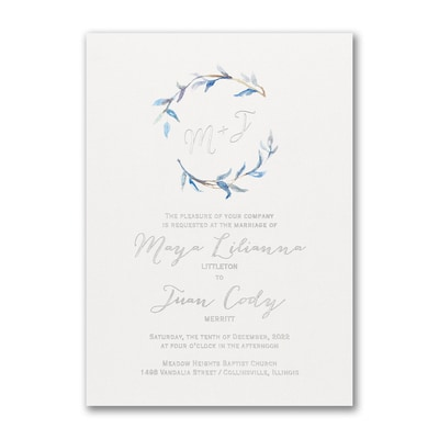 Watercolor Whimsy - Invitation - Periwinkle