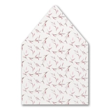Watercolor Whimsy - Envelope Liner - Rosewood