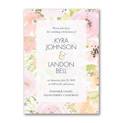 Colorful Blooms - Invitation