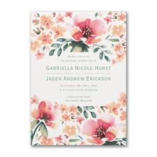 floral invitation: Vibrant Flowers