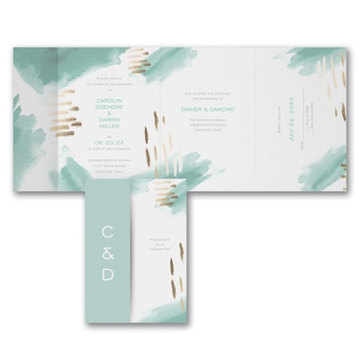 Watercolor Sensation - All 'n One Invitation