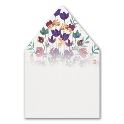 Watercolor Garden - Envelope Liner