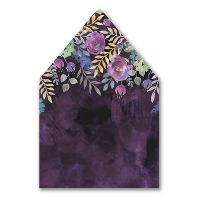 Midnight Floral - Envelope Liner