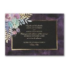 Midnight Floral - Invitation