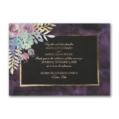 Midnight Floral - Invitation