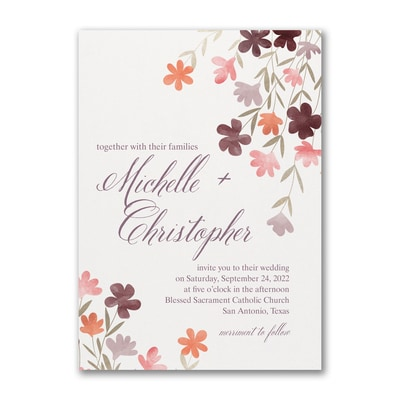 Dainty Floral - Invitation