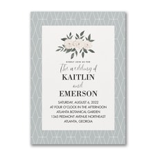 Vintage wedding invitation: Modern Nature