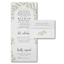 rustic invitation: Natural Linen