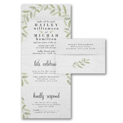Natural Linen - Seal 'n Send Invitation