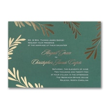 Contemporary Greenery - Invitation