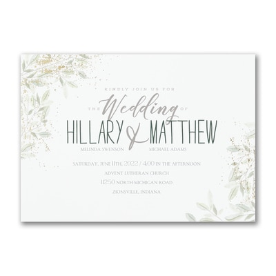 Charming Greenery - Invitation