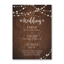 rustic invitation: Rustic Evening
