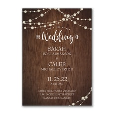 Rustic Evening - Modern Invitation
