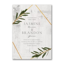 Modern wedding Invitation: Rustic Dreams