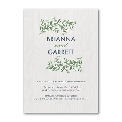 Beautiful Vines - Invitation