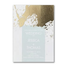 Modern wedding Invitation: Contemporary Shine