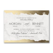 Modern wedding Invitation: Modern Edge
