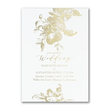 Wedding Invitation: Vintage Floral