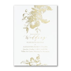 Vintage Floral - Wedding Invitation