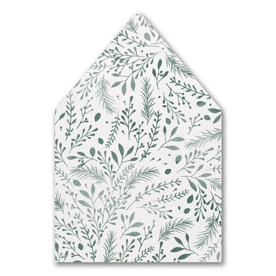 Botanical Greenery - Envelope Liner