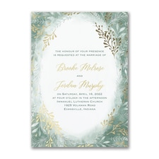 Botanical Greenery - Invitation