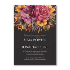 Fall Floral - Invitation